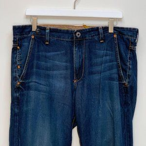 AG Adriano Goldschmied Womens Designer Blue Jeans